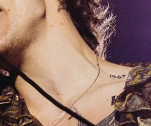 gold, neck, and Harry Styles image