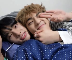 hyunjin, woojin, and stray kids image