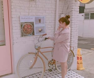 beautiful, bicycle, and outfit image