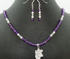 etsy, wedding jewelry, and amethyst necklace image