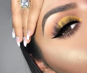 beautiful, pretty, and lashes image