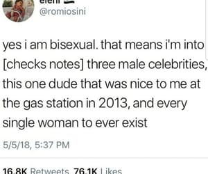 bi, bisexual, and funny image