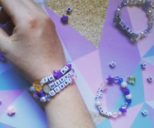 bracelet, derby, and purple image