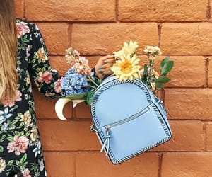 backpack, beautiful, and floral image