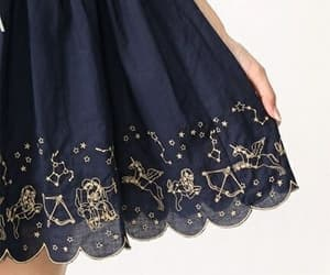 skirt, stars, and blue image