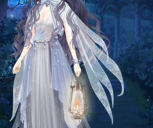 anime, blue, and purple image