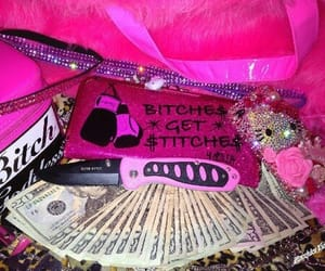 pink, gangster, and money image