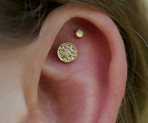 earings, girly, and Piercings image