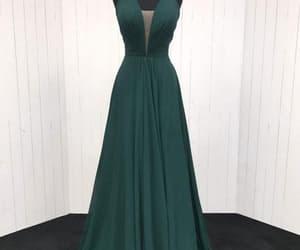 prom dress, chiffon dress, and formal occasion dress image