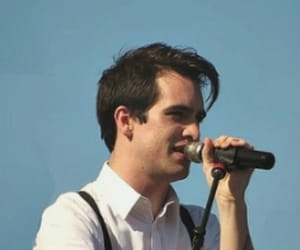blue, brendon urie, and P!ATD image