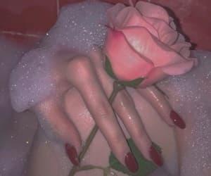 bath, foam, and roses image