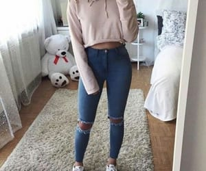 clothes, fashion, and goals image