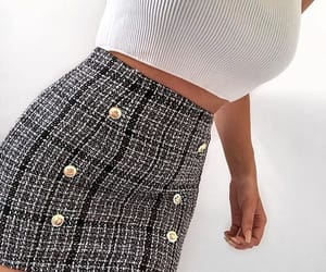 casual, grey, and skirt image