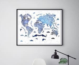 decor, map, and nursery image