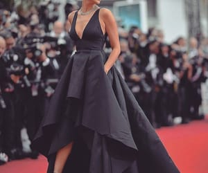 dress, irina shayk, and black image