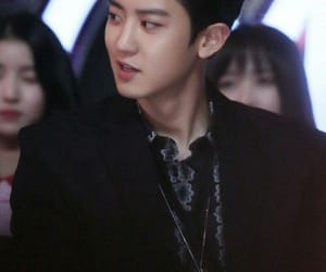 asian boy, black hair, and park chanyeol image