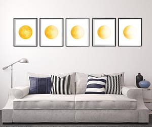 decor, etsy, and moon image