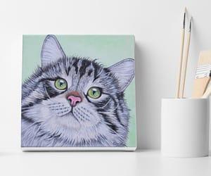 art, painting, and christmas gift image