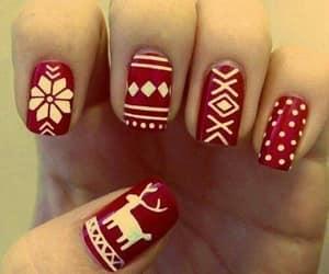 navidad, rojo, and uñas image