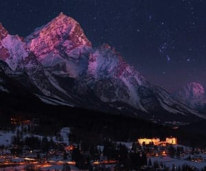mountains, nature, and lights image