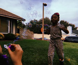 aesthetic, black girl, and bubbles image