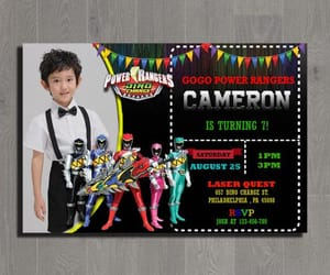 birthday party, birthday invitation, and power rangers party image