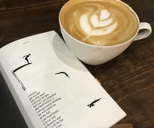 book, latte, and quote image