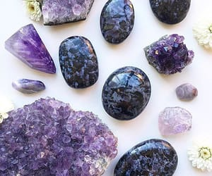 black stones, crystal, and crystals image