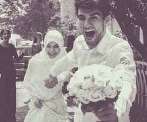 wedding, couple, and muslim image