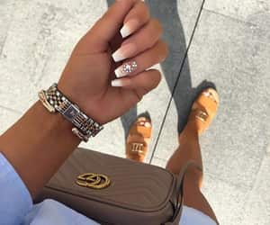 nails, gucci, and beauty image