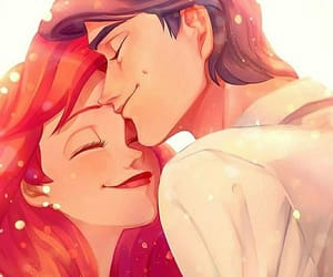 ariel, couple, and disney image
