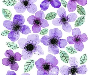 background, flowers, and violet image