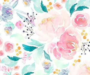 background, draw, and flowers image