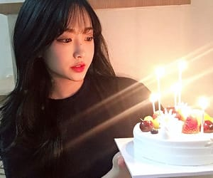 aesthetic, asian girl, and bday image