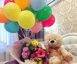balloons, gift, and suprise image
