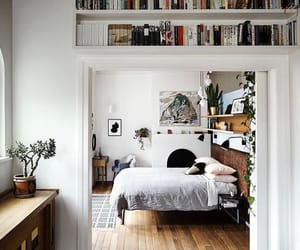 bedroom, book, and interior image