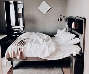 interior, bed, and room image