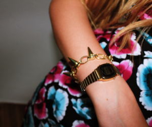 casio, gold, and spike image