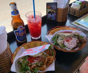 drinks, fast food, and food image