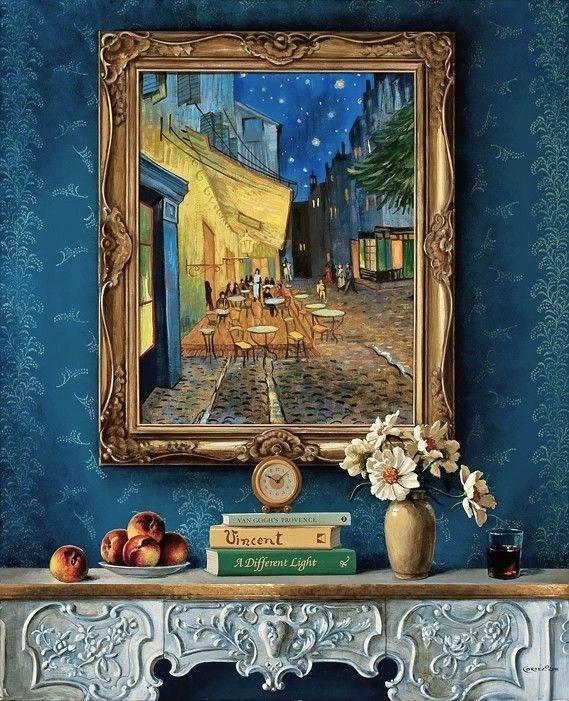 Vincent Van Gogh Home Deco Terraza De Café Por La Noche