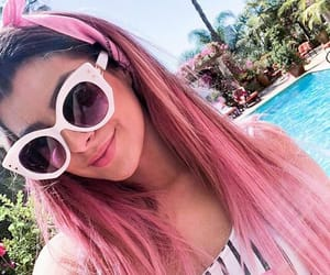 aesthetic, pink hair, and sun image