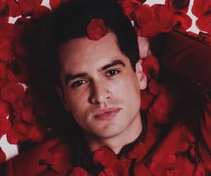 brendon urie, panic! at the disco, and red image