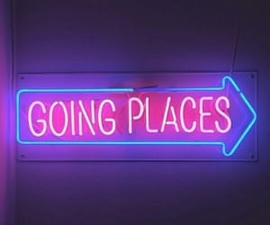 neon, light, and places image