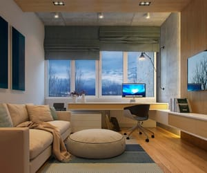 architecture, home office, and interior design image
