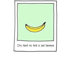 banana, happy, and inspire image