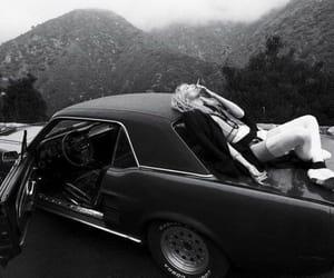 girl, car, and smoke image