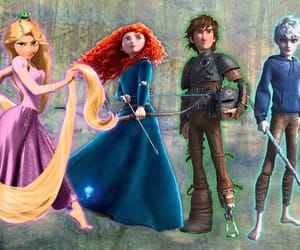 dreamworks, merida, and rapunzel image