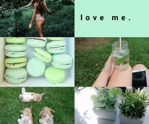 aesthetic, green, and pastel image