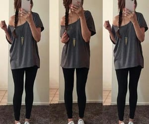 gris, negro, and outfits image