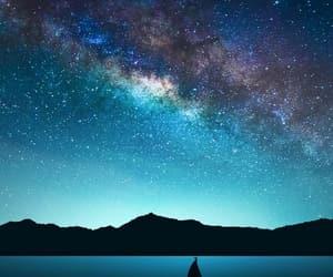 beauty, galaxy, and purple image